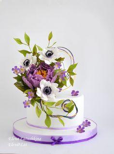 Фотография One Tier Cake, Single Tier Cake, Single Layer Cakes, Cake Icing, Fondant Cakes, Cupcake Cakes, Cake Decorating Techniques, Cake Decorating Tutorials, Gorgeous Cakes