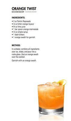 ORANGE TWIST   Patrón Tequila --- www.spiritedgifts.com #happysipping