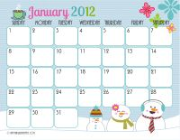 Free Calendar Templates... these would be adorable with a Handprint Calendar!!!