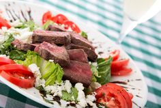 Sunday Dinner: Special for mom -- Greek-style steak and tomato salad