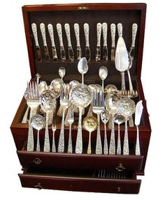 84 Best Fancy Silver Images On Pinterest Sterling Silver Flatware