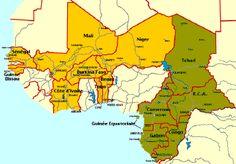 Las dos regiones africanas donde el Franco CFA es moneda de curso legal.- El Muni.