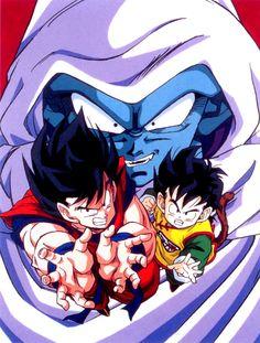 Goku and Gohan vs Garlic Jr.
