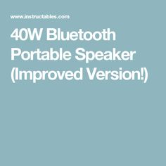 40W Bluetooth Portable Speaker (Improved Version!)