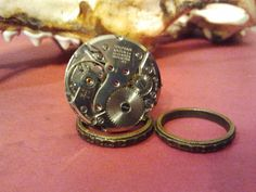 Steampunk Watch Movement Size 7 Triple Band Ring by AmandadeSade, $37.00