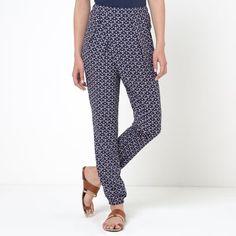 Pantalon sarouel imprimé SOFT GREY | La Redoute Mobile