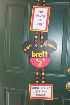 Mickey Mouse birthday party door hanger!