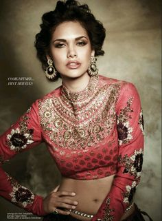 Indian Embroidery | rosey pinks and gold