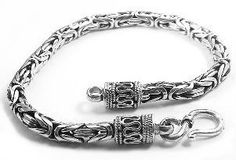 """Heavy Darkened Sterling Silver 8"""" Byzantine Bracelet Silver Insanity. $99.97. 5mm or 3/16"""" wide, 7.75 inches in length. Marked .925. Weighs 24 grams. Closes With a Lobster Claw Clasp (different clasp than photo shows)."""