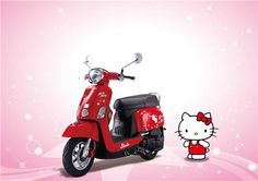 Hello Kitty Scooter   Cute