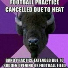 Yes! Band geek humor thats just how we roll, cause we aint wimps