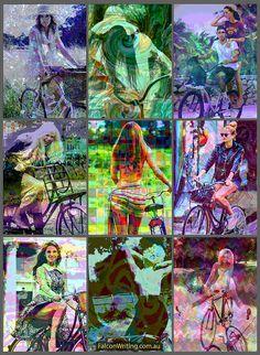 Bicycling can be fun. by FalconFabrics.com.au