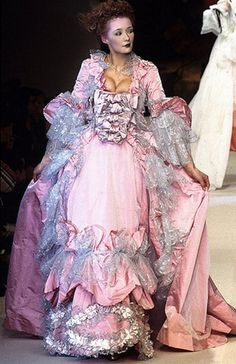 Love Entwined, A Cardiff Novel Book 2. For Amelie/Jacqueline of 1789. The ball at Versailles - the blooming of love and tragedy. Style Couture, Couture Fashion, Runway Fashion, High Fashion, Fashion Show, Fashion Design, Fashion Themes, Modern Fashion, Vivienne Westwood
