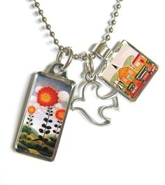 Naive Art necklace