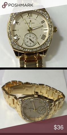 Quad gold watch Gold plated watch Accessories Watches
