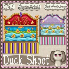Duck Shoot Script (FS-CU-TEMPLATE-PSP SCRIPT) [Pink] : Scrap and Tubes Store, Digital Scrapbooking Supplies