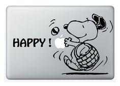 Pegatina MacBook SNOOPY HAPPY