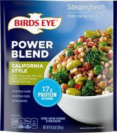 THURS $2.79 Kroger - Birds Eye Steamfresh Protein Blend California Style Vegetables, 10.8 oz Frozen Vegetables, Mixed Vegetables, Honeymoon Packing, Protein Blend, Cooking Instructions, Stuffed Shells, Garlic Sauce, California Style, Edamame
