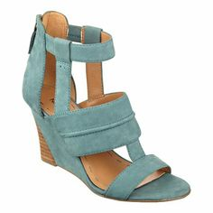 "Nine West.  Francie wedge sandals. Back zip for easy on/off.  Imported. 3"" stacked and wrapped wedge heels. Wedge sandals."