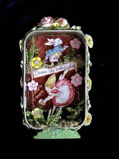 Down the Rabbit Hole Custom Tin  Custom order altered tin~