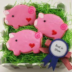 Pink Pig Cookies