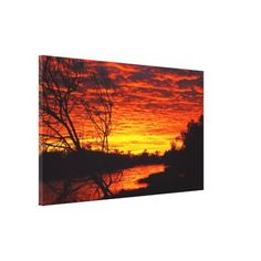 Thomson River sunrise canvas print - photography gifts diy custom unique special