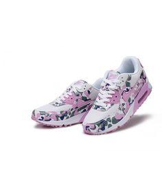 timeless design 1a0e3 2b302 Nike Air Max 90 Camouflage Running Shoes White Amaranth Pink Sale Nike Air  Max, Air