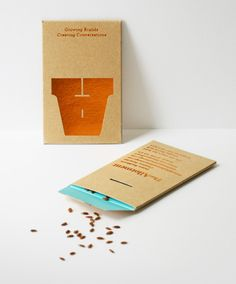 Clever Letterpress Printed Seed Packet Business Card Concept Flower