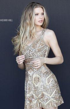 c7e70a89cd37 SHERRI HILL 51343 Silver Dress