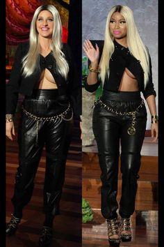 Ellen dressed up as nicki Minaj for Halloween > October 2013