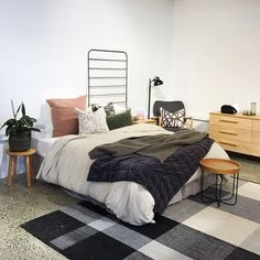 One for all you monochrome lovers out there Styled by the team at - loving the accent colours Still Have, Accent Colors, Monochrome, Colours, Photo And Video, Interior Design, Bedroom, Lovers, House