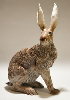 Hare Sculpture - Nick Mackman Animal Sculpture