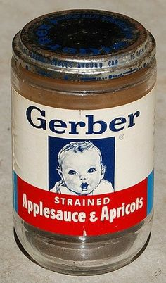 Gerber - the baby food company who fed generations. And supplied home workshops with containers for nails, screws, etc. Vintage Advertisements, Vintage Ads, Vintage Food, Advertising Ads, Vintage Stuff, Vintage Items, My Childhood Memories, Sweet Memories, Vintage Packaging