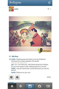 If Disney Princesses used Instagram…