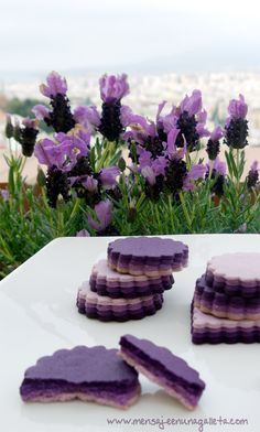 ~In the lavender field~ / Lavender Cookies Recipe