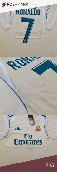 RONALDO REAL MADRID HOME SOCCER PLAYER JERSEY New with tag. Sizes available  adidas Shirts Tees - Short Sleeve 300d00dd2ca4e