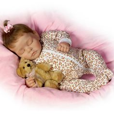 """22"""" Lifelike Silicone Doll Realistic Reborn Baby Sleeping Girl Alive Kids Playhouse Toy Collects Shooting Props"""