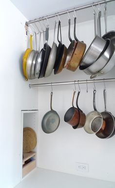 diy minimalist stainless steel pot rack