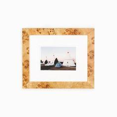 "Burl Tan Inlay Photo Frame 4/"" x 6/"" by ECCOLO Genuine Burlwood"
