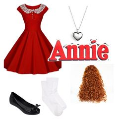 """""""Little Orphan Annie"""" by princesscandy89 ❤ liked on Polyvore featuring Chicnova Fashion, Melissa, Pandora, Hue and ANNIE"""