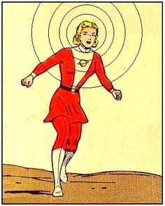 Saturn Girl. This old school dress version is cute, but I'd do the top as sleeveless and with no leggings.