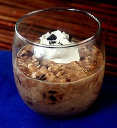 Double Chocolate Overnight Oatmeal (with melty shards of chopped chocolate)