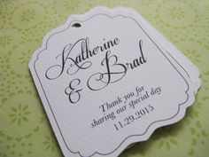 Wedding Favor Tags, Personalized Shower or Gift Tags. Custom Product Labels or Hang Tags on Etsy, $10.00