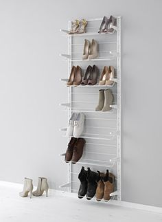 Would hold around 21 pairs of shoes IKEA - ALGOT, Wall upright/shoe organiser Shoe Organizer Ikea, Shoe Organiser, Closet Organization, Organizing, Ikea Algot, Ikea Bedroom, Bedroom Storage, Bedroom Furniture, Home Organization Tips