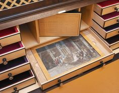 Secret drawers are one of the most challenging features to include in a piece of furniture. Desk Cabinet, Dovetail Drawers, Bespoke Furniture, Sydney, College, Table, Woodwind Instrument, University, Desk