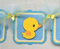 Rubber Duck Baby Shower Banner, Rubber Duck Banner, Aqua Blue And Yellow,  Itu0027s Au2026