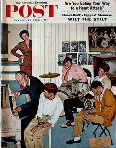 The Saturday Evening Post, December 1956 (Cover art by John Falter)