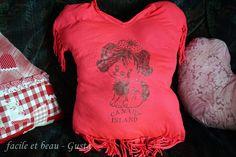 Kissen aus Shirt / Pillow made of shirt / Upcycling