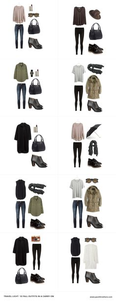 10 Fall Travel Outfits from a Fall Travel Capsule, carry on only!
