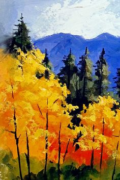 """FALL IN COLORADO III"" 10144 by Carol Nelson Oil ~ 7 x 5"